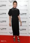 Alicia Vikander's LV LBD For The 'Earthquake Bird' London Film Festival World Premiere