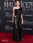 Angelina Jolie Beautiful In Black Atelier Versace For The 'Maleficent: Mistress Of Evil' World Premiere