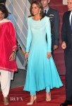 Catherine, Duchess Of Cambridge's Elegant Ombre Blue Shalwar Kameez For Her Pakistan Arrival