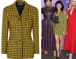 Constance Wu's Alessandra Rich Houndstooth Tweed Jacket