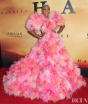 Cynthia Erivo's Explosive Feathers Steal The Spotlight At The 'Harriet' LA Premiere