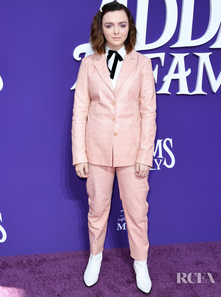Elsie Fisher Continues To Impress In Suits At 'The Addams Family' LA Premiere