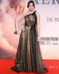 Felicity Jones Wears Oscar de la Renta For 'The Aeronauts' London Film Festival Premiere