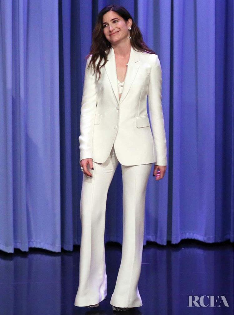 Kathryn Hahn's Bright White  Gabriela Hearst For The Tonight Show Starring Jimmy Fallon