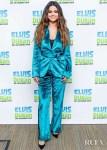 Selena Gomez' Teal Velvet Sies Marjan Suit For The Elvis Duran Z100 Morning Show