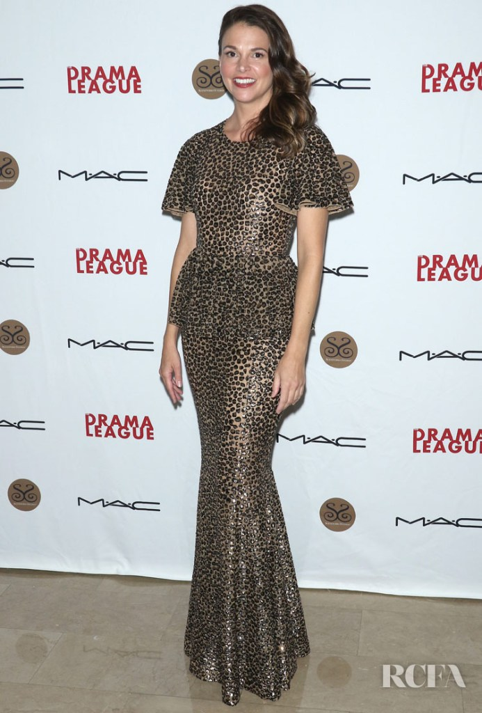 Sutton Foster's Leopard Print Michael Kors Gown For The Drama League's 2019 Annual Benefit Gala