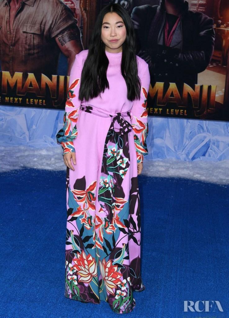 Awkwafina Wore Valentino To The 'Jumanji: The Next Level' LA Premiere