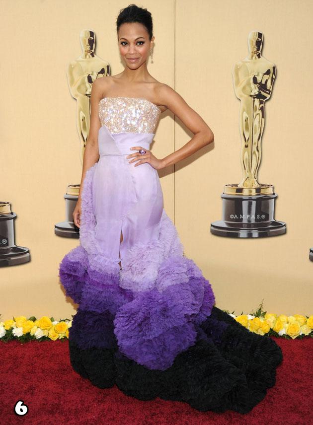 Zoe Saldana In Givenchy Haute Couture - 2010 Oscars