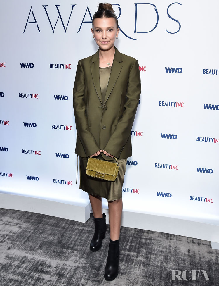 Millie Bobby Brown Wore Helmut Lang To The 2019 WWD Beauty Inc Awards