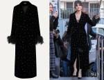 Selena Gomez's Miu Miu Embellished Velvet Coat