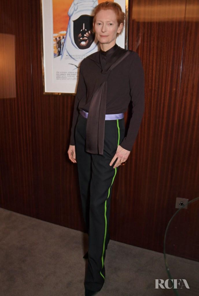 Tilda Swinton Wore Haider Ackermann 'Parasite' AMPAS Screening