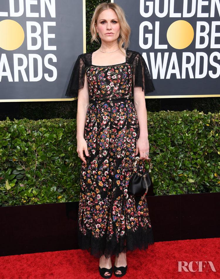 Anna Paquin dior 2020 Golden Globe Awards