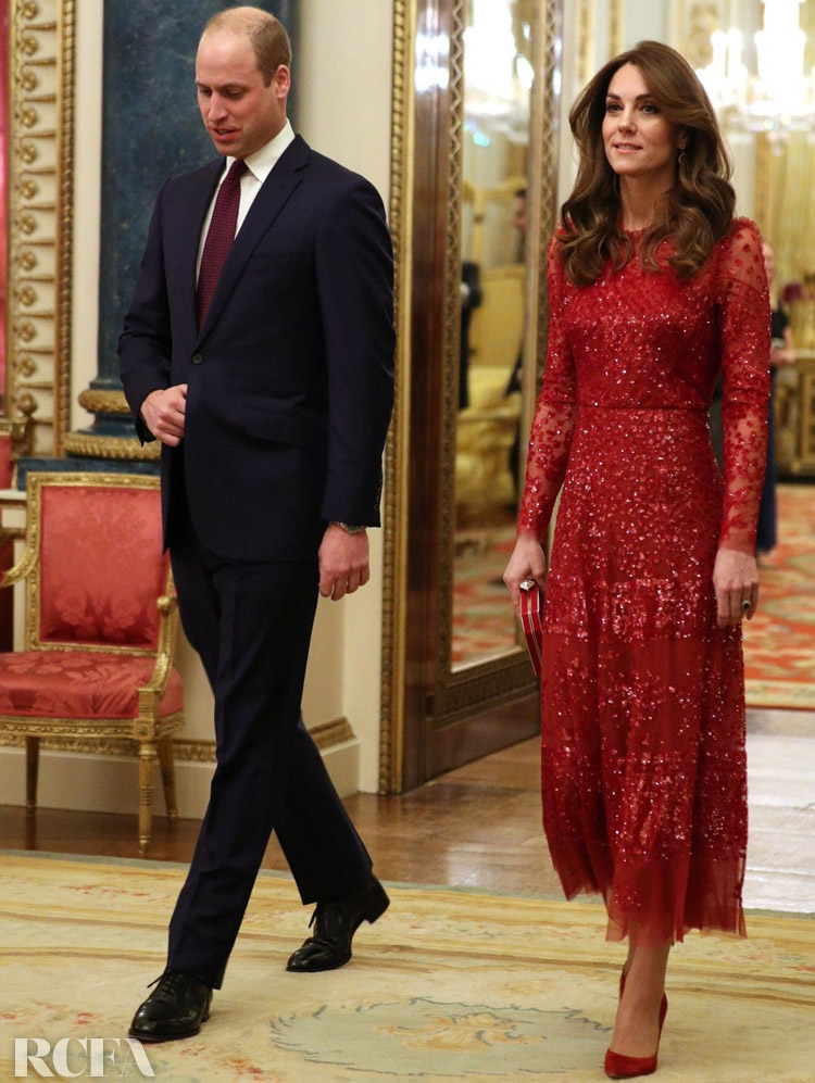 Kate Middleton Red Needle & Thread dress worn to the UK-Africa Investment Summit
