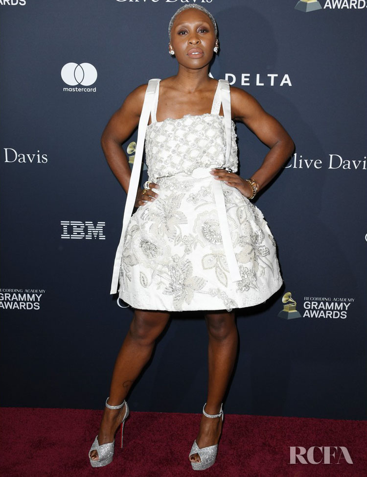 Cynthia Erivo Wore Richard Quinn To The Pre-Grammy Gala and Grammy Salute to Industry Icons Honoring Sean 'Diddy' Combs