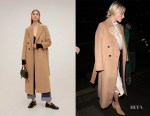 Margot Robbie's MANGO Belted Wool Coat