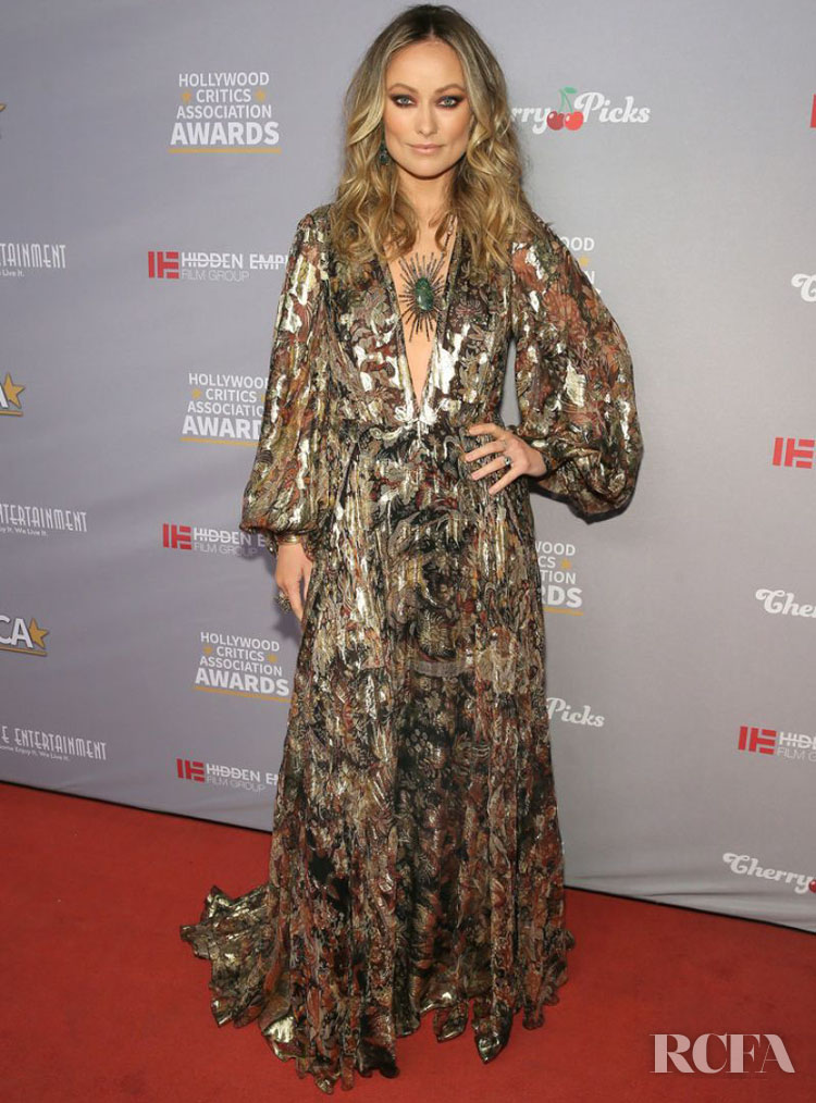 Olivia Wilde Wore Etro To The 2020 Hollywood Critics Awards
