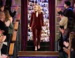 Rachel Brosnahan Wore Brunello Cucinelli On The Late Late Show With James Corden