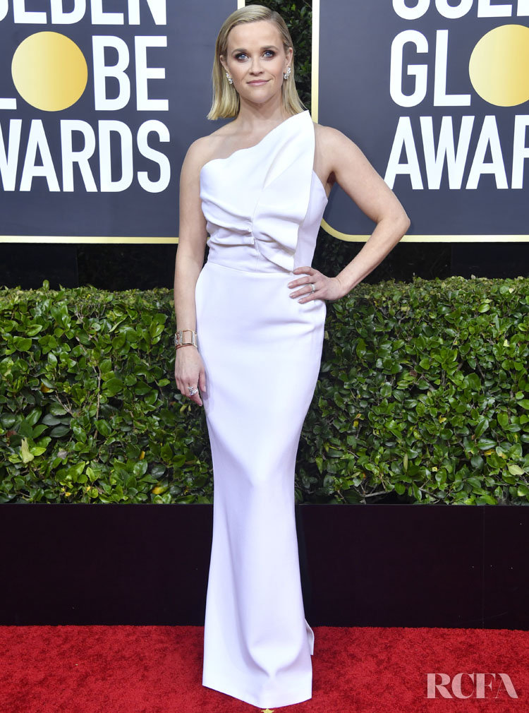 Reese Witherspoon  In Roland Mouret - 2020 Golden Globe Awards