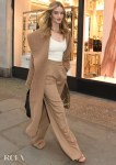 Rosie Huntington-Whiteley Wore Max Mara To Launch The Hourglass Vanish Concealer Window Campaign For Space NK