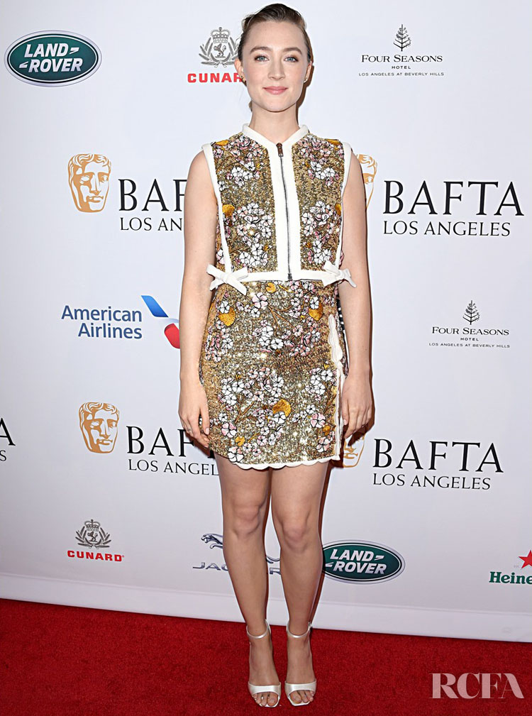 Saoirse Ronan In  Giambattista Valli - BAFTA LA Tea Party