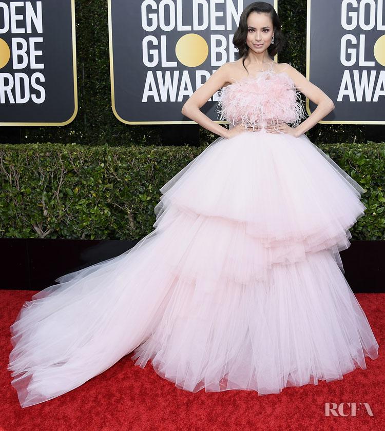 Sofia Carson In Giambattista Valli Haute Couture - 2020 Golden Globe Awards