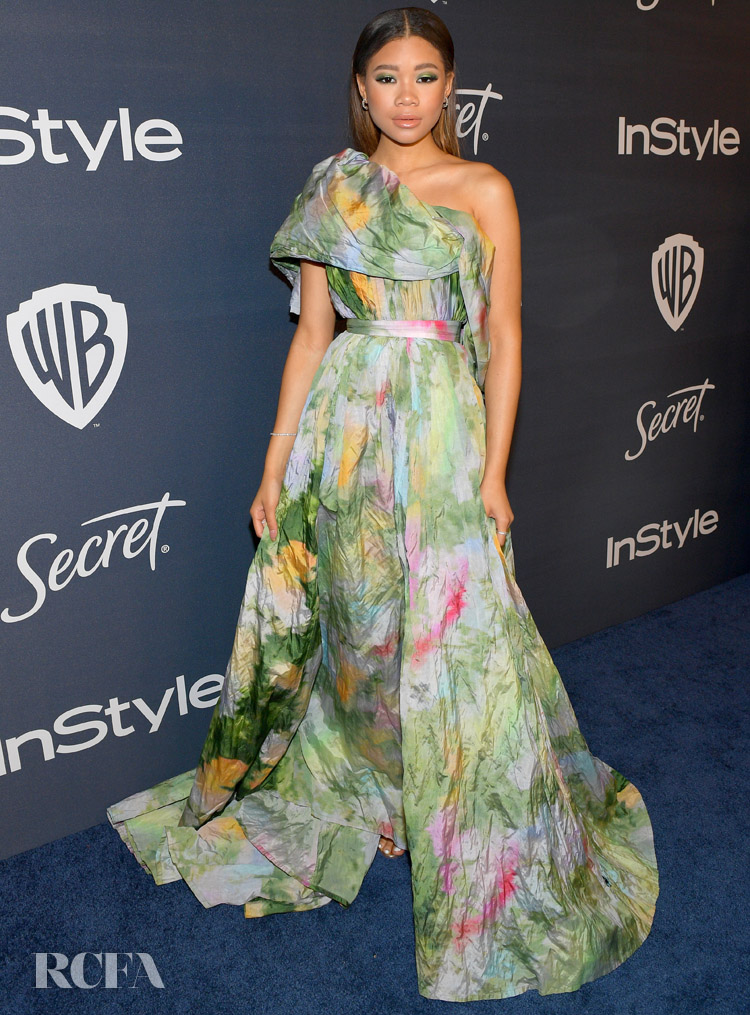 Storm Reid Wore Rosie Assoulin To The InStyle Golden Globe After Party