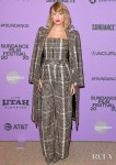 Taylor Swift Wore Carmen March To The 'Taylor Swift: Miss Americana' Sundance Film Festival Premiere