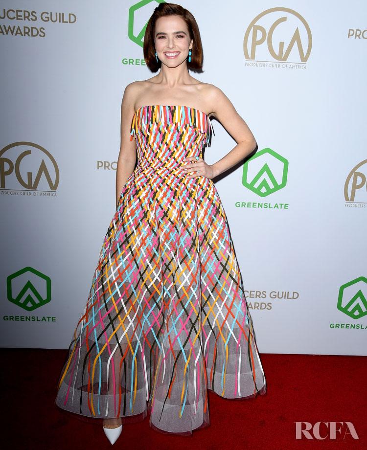 Zoey Deutch Wore Oscar de la Renta To The 2020 Producers Guild Awards