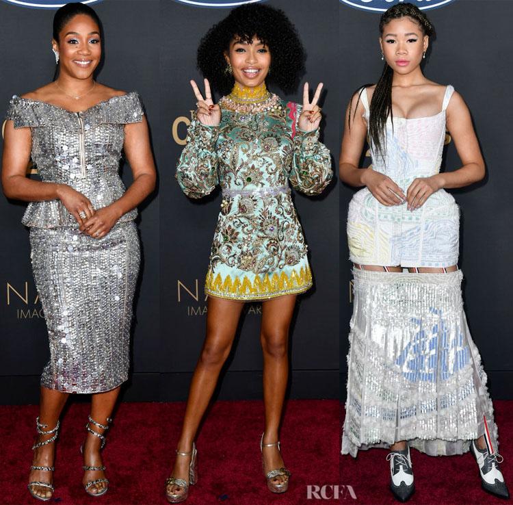 Tiffany Haddish, Yara Shahidi and Storm Reid - 2020 NAACP Image Awards Red Carpet Roundup