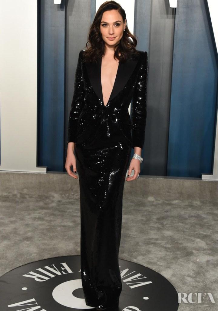 Gal Gadot in Saint Laurent - 2020 Vanity Fair Oscars Party