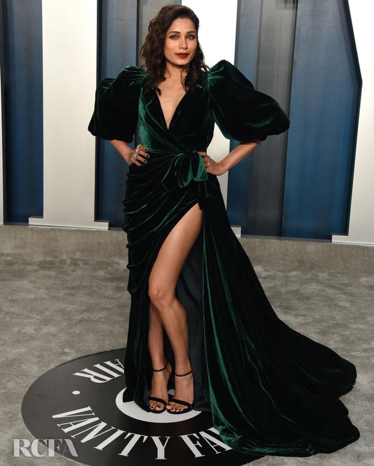 Fredia Pinto in Galia Lahav @ The 2020 Vanity Fair Oscar Party