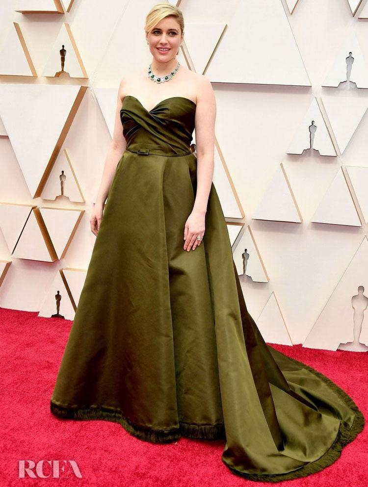 Greta Gerwig In Christian Dior Haute Couture - 2020 Oscars