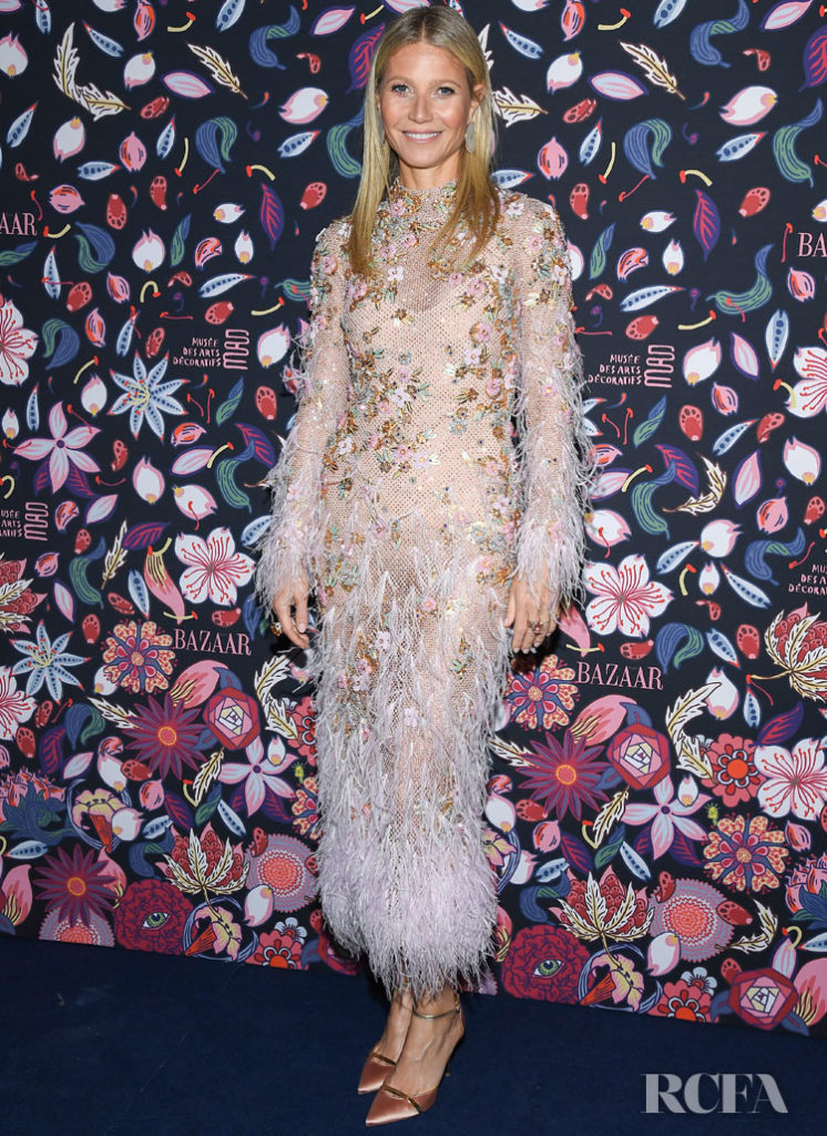 Gwyneth Paltrow Wore Ralph & Russo Couture To The Harpers Bazaar Exhibition