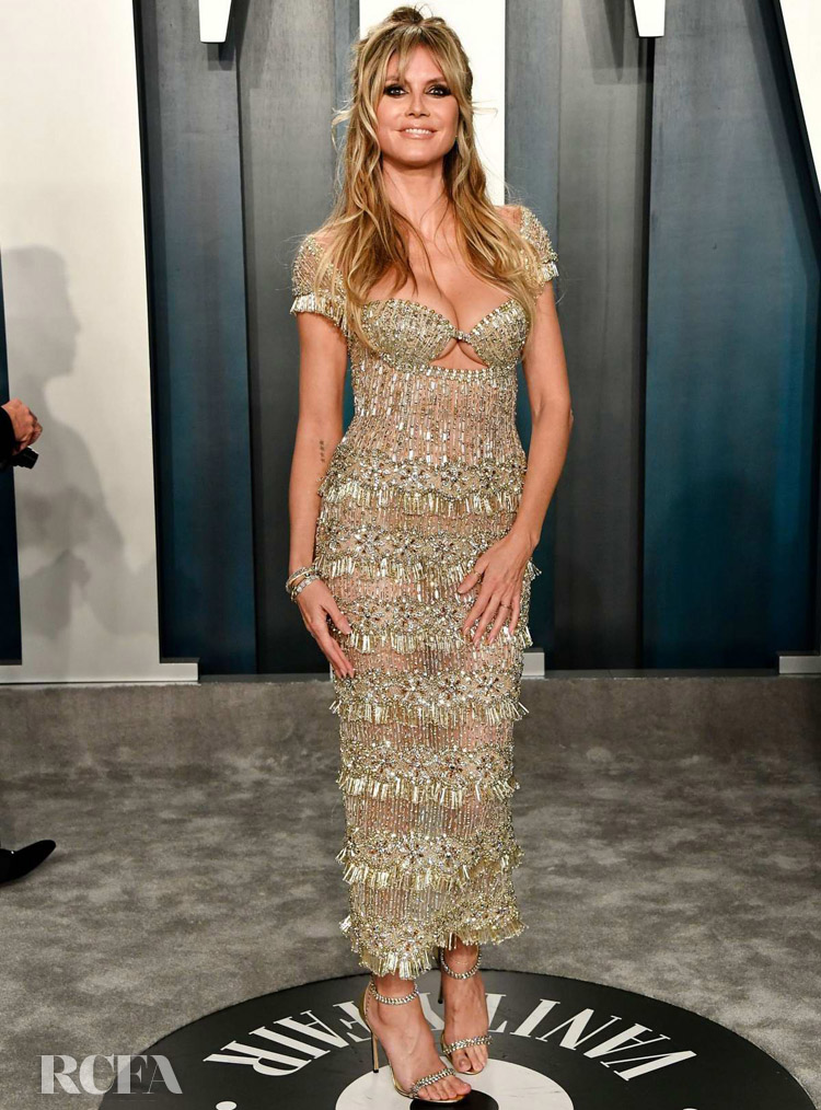 Heidi Klum Georges Hobeika Couture The 2020 Vanity Fair Oscar Party