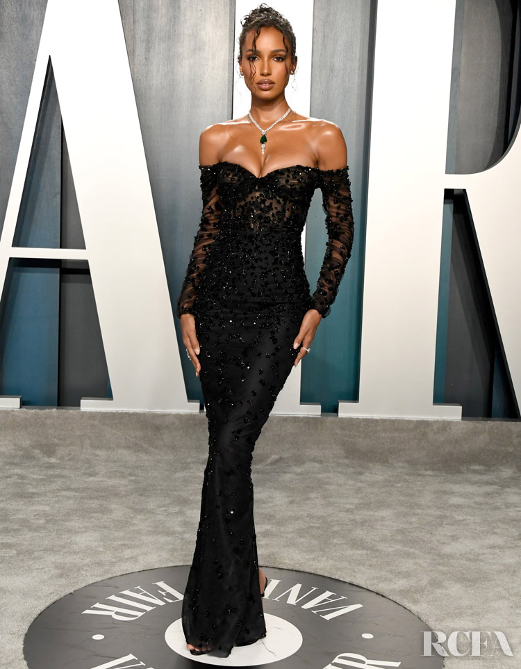 Jasmine Tookes Georges Hobeika Couture  The 2020 Vanity Fair Oscar Party
