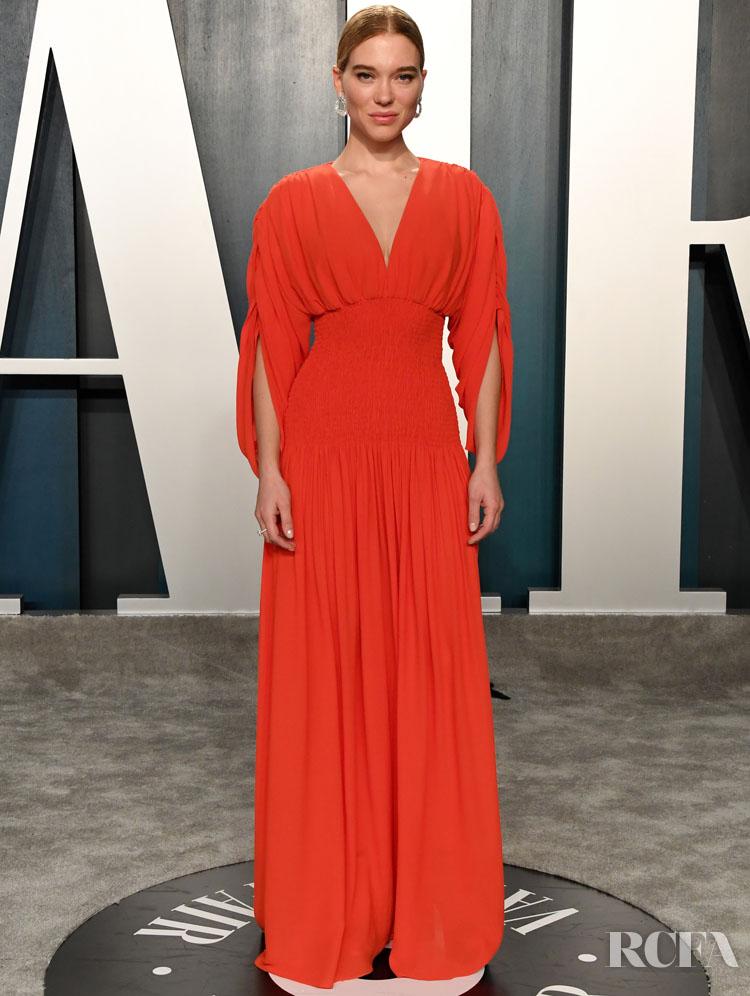 Lea Seydoux in Louis Vuitton The 2020 Vanity Fair Oscar Party