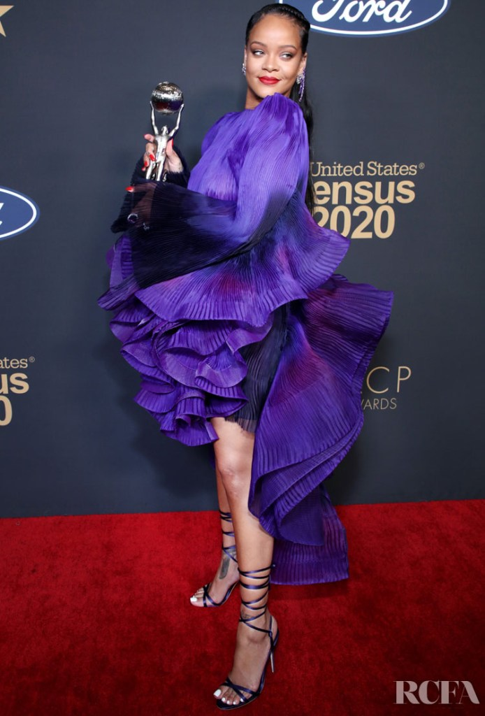 Rihanna Wore Givenchy Haute Couture To The 2020 NAACP Image Awards