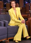 Zoey Deutch Wore Alex Perry On The Tonight Show Starring Jimmy Fallon