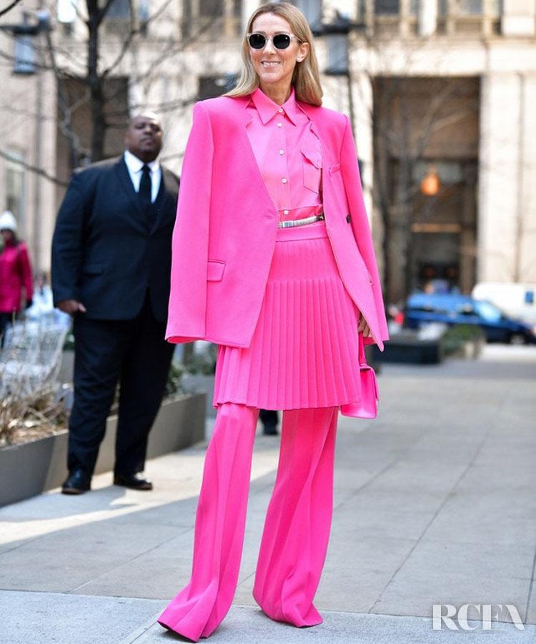 Celine Dion Wore Oscar de la Renta & Peter Do On Her Last Two Days In New York City