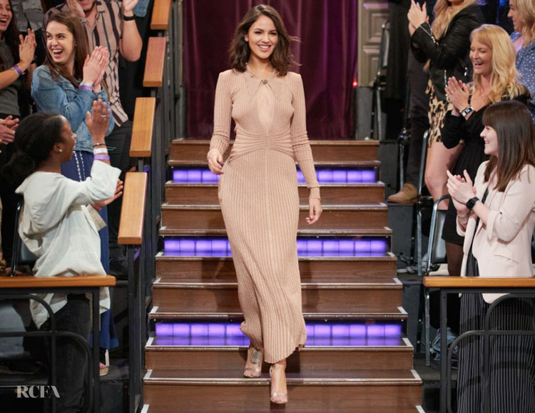 Eiza Gonzalez Wore Prabal Gurung On The Late Late Show with James Corden