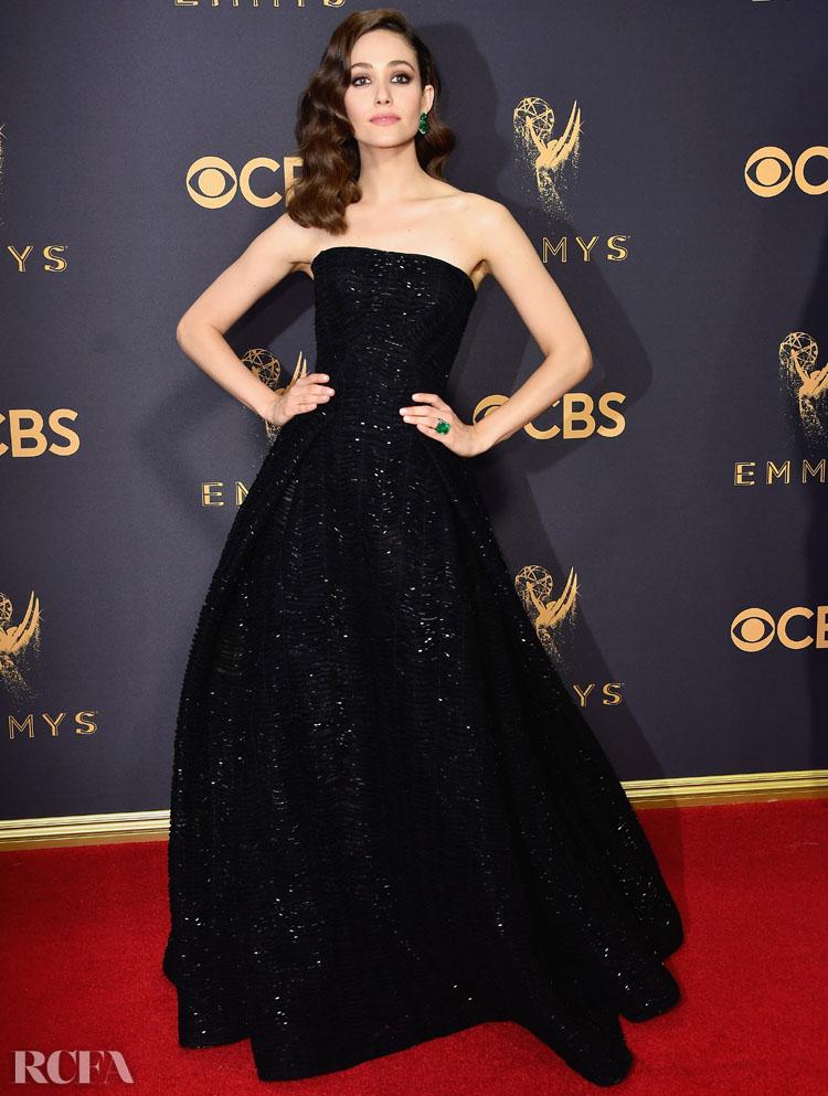 Emmy Rossum In Zac Posen – 2017 Emmy Awards