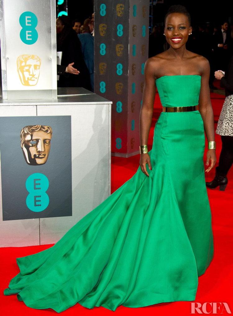 Lupita Nyong'o In Christian Dior Couture – 2014 BAFTAs