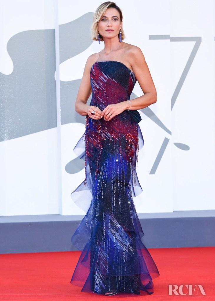 Anna Foglietta Wore Armani Prive To The 2020 Venice Film Festival Closing Ceremony