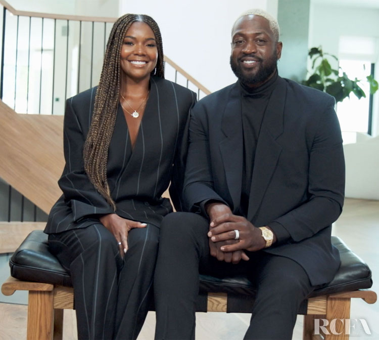 Gabrielle Union & Dwyane Wade Wear FEAR OF GOD Exclusively for Ermenegildo Zegna For The 'TIME 100' Broadcast Event