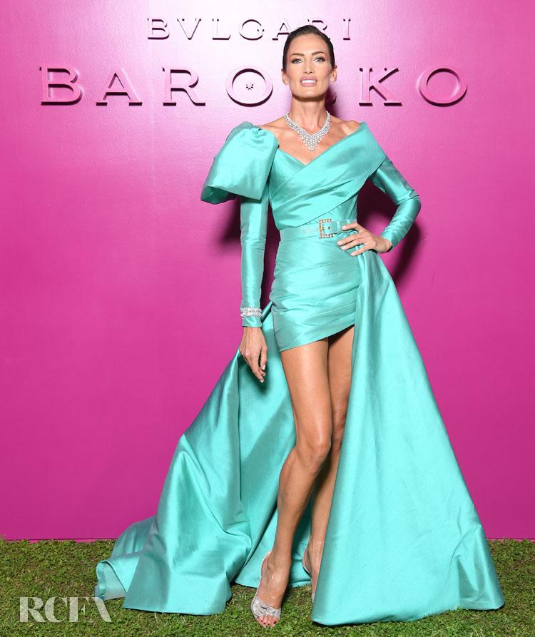 Nieves Alvarez In Elie Saab Haute Couture - Bvlgari Barocco Event