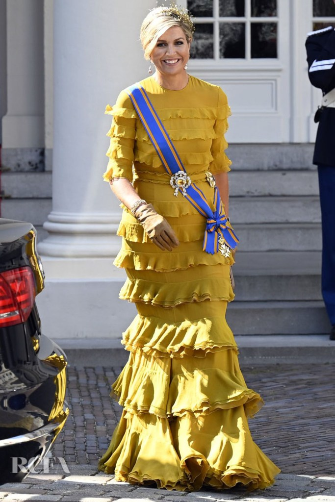 Queen Maxima of The Netherlands Wore Claes Iversen Couture For Prinsjesdag 2020