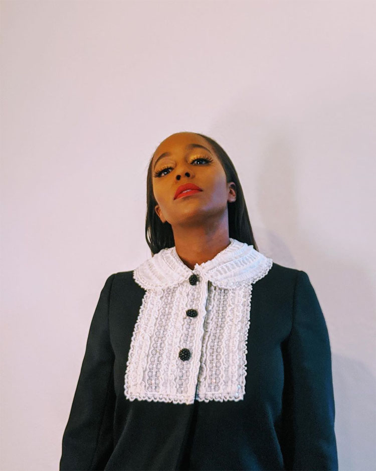 Aja Naomi King Virtual Front Row @ Miu Miu Spring 2021