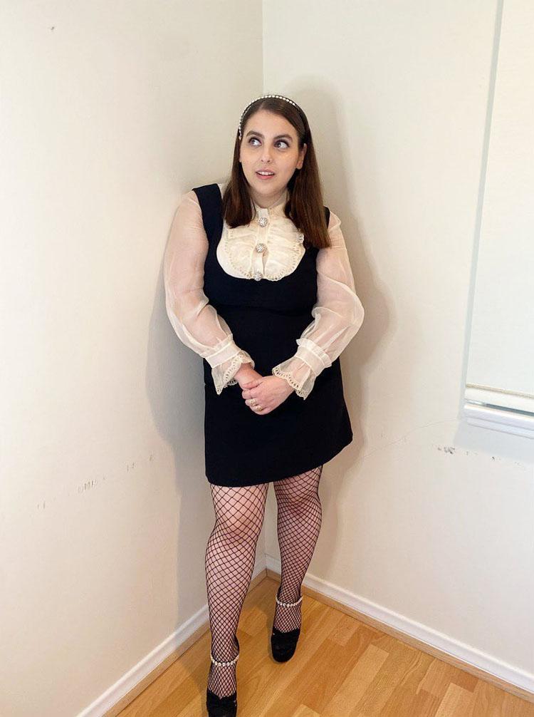 Beanie Feldstein Virtual Front Row @ Miu Miu Spring 2021