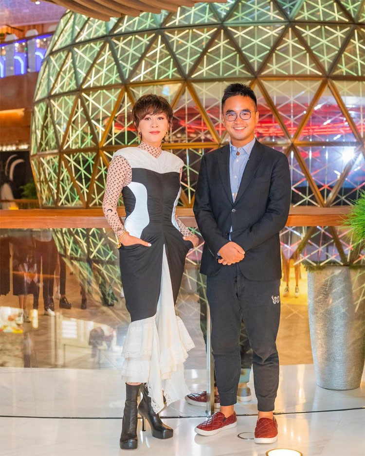 Carina Lau Wore Marine Serre To The K11 Musea First Anniversary Party