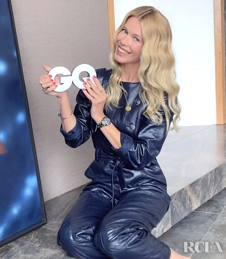 Claudia Schiffer Wore Chanel Accepting Her 2020 GQ Men of the Year Award